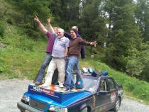Disco , banger rally, charity rally, road trip